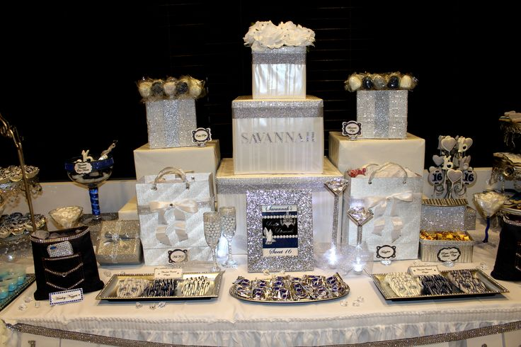 Sweet 16 Candy Table Ideas Photograph Denim amp Diamonds Swe