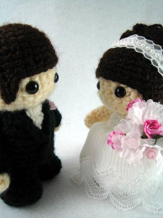 Crochet Pattern Amigurumi Cat : Amigurumi wedding bride and groom Wedding Inspiration ...