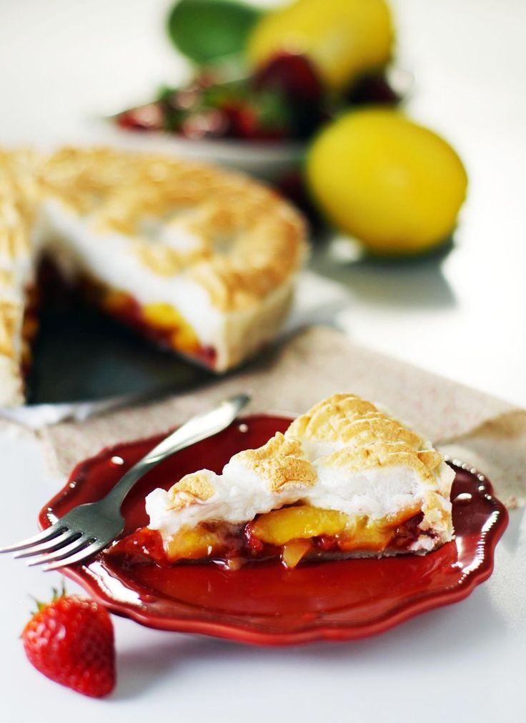 Strawberry Mango Meringue Pie by Sam Henderson of Today's Nest