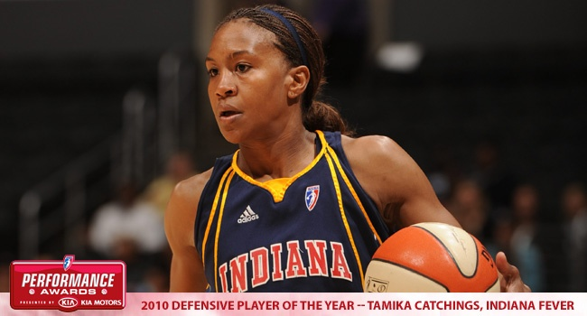Tamika Catchings: 2010 WNBA Defensive Player of the Year