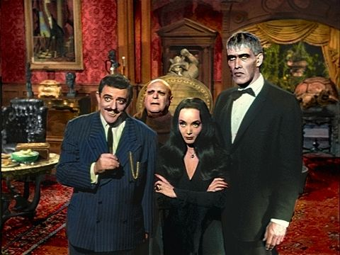 The addams family classic tv pinterest for The addams family living room
