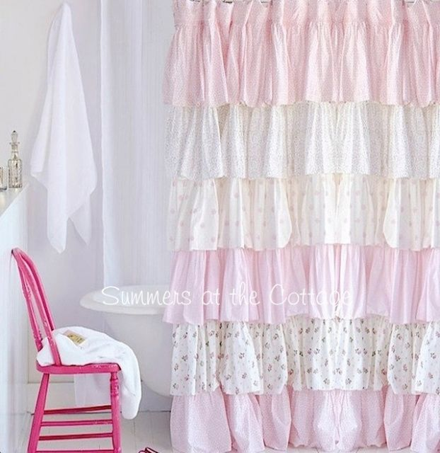 Spring Loaded Curtain Rods Pretty Pink Shower Curtain