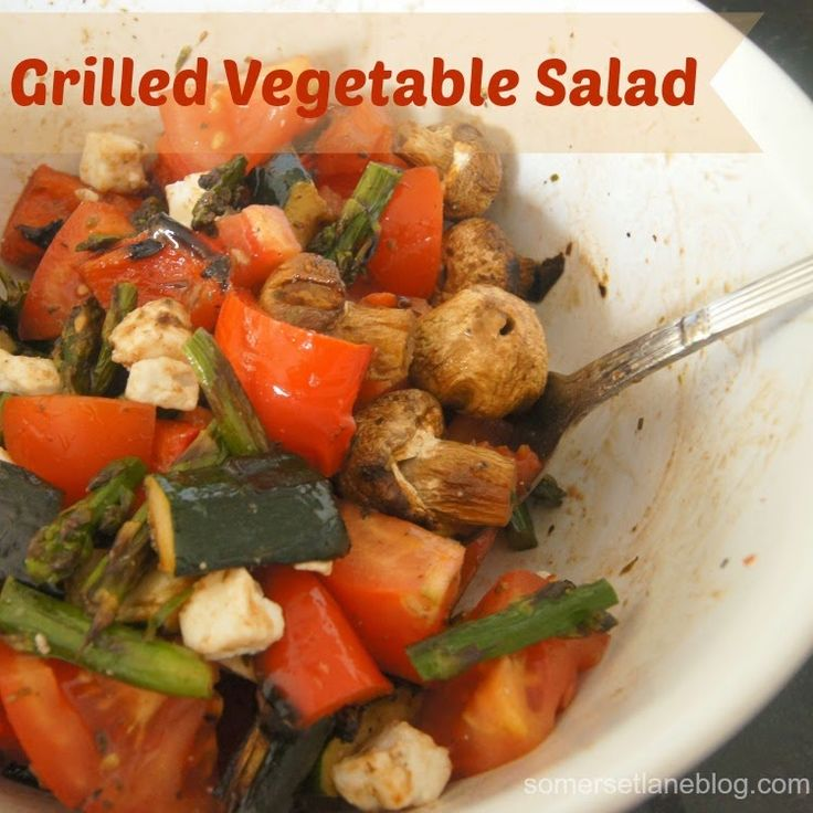 Grilled Vegetable Salad | Grill recipes | Pinterest