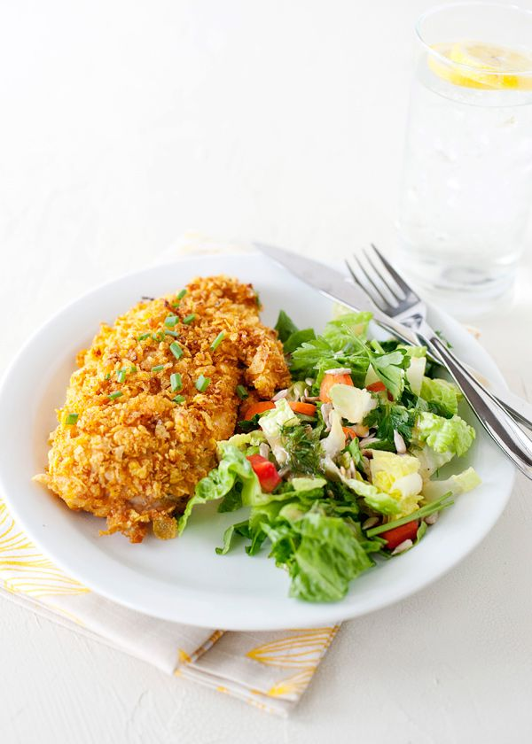 Oven Fried Chicken with Ranch Dressing #chicken