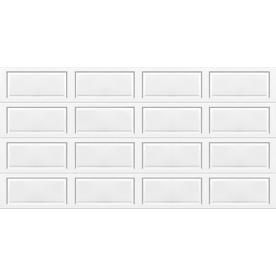 Wayne dalton 9100 series 16 ft x 7 ft insulated white double garage d