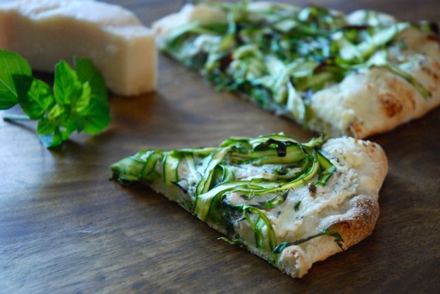 Shaved Asparagus Pizza | pizza & savory pie. | Pinterest