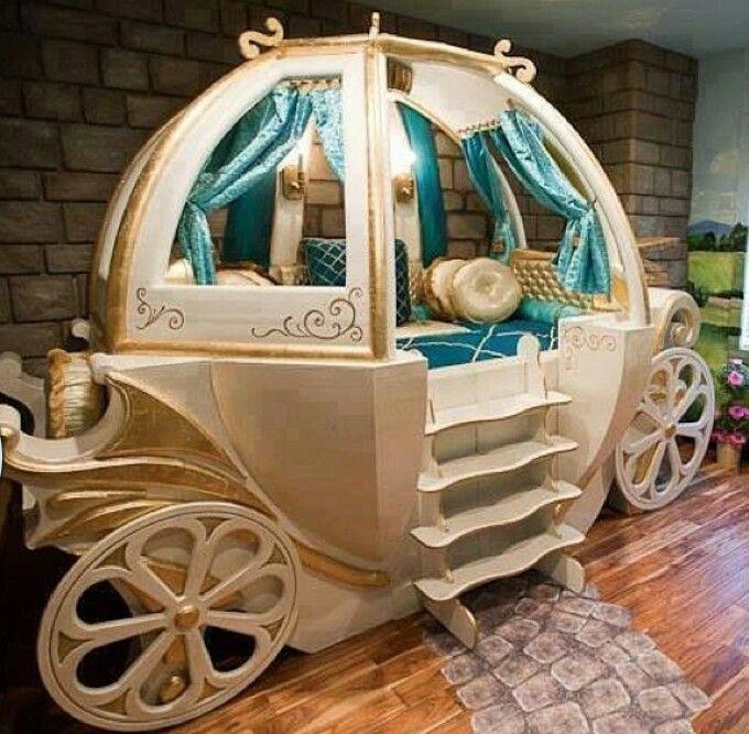 Best Cinderella Carriage Bed Girls Bedroom Nursery Pinterest 400 x 300