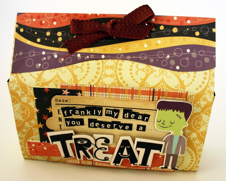 How to Fold a Treat Bag out of a 12x12 piece of scrapbook paper has Video Tutorial