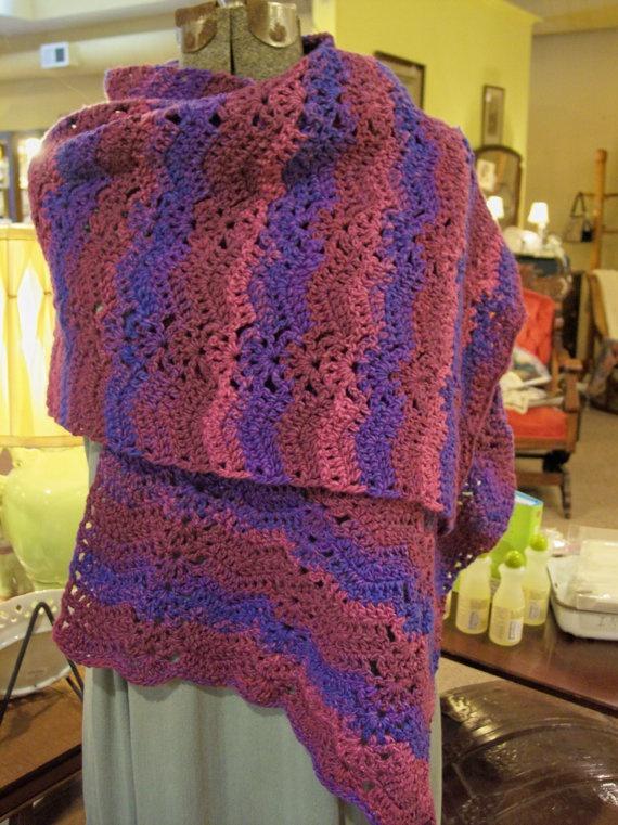 Crocheting Prayer Shawls : Crochet Prayer Shawl by hendersonmemories on Etsy, $95.00