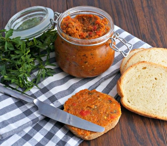 Roasted Eggplant Spread With Garlic, Pepper And Onions Recipes ...