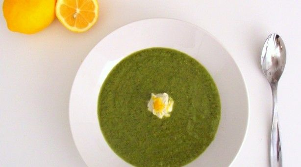Green Soup with Meyer Lemon Yogurt (cost per serving: $2.25) Broccoli ...
