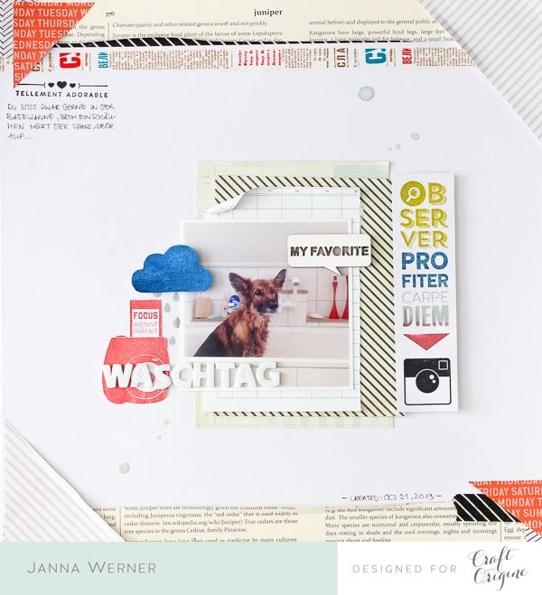 Janna Werner: scrapbooking pages and cards - featuring stamps from Craft Origine