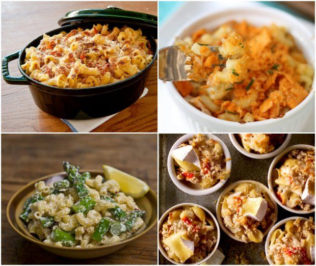 caramelized onion and prosciutto mac and cheese, Cheez-It mac and