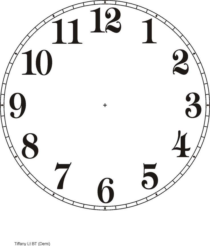 Digital Clock Template Printable Clock face template - bing