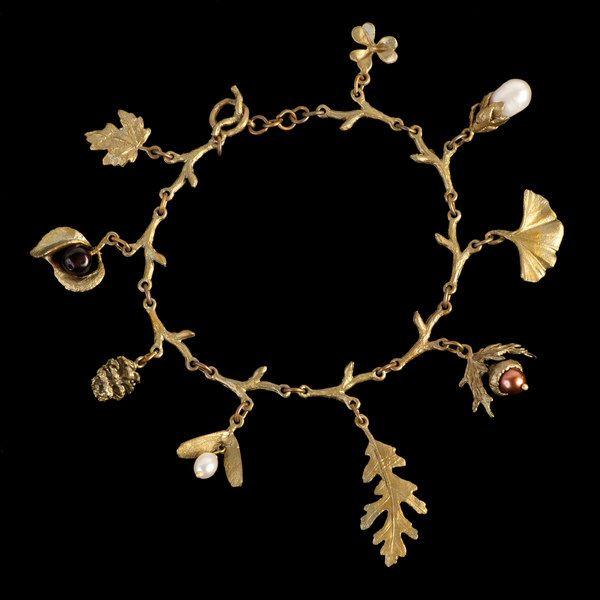 Leaf Charm Bracelet  Michael Michaud Jewelry