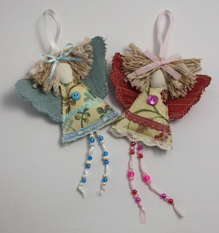 Shabby chic guardian angel christmas angel decoration for Angel decoration