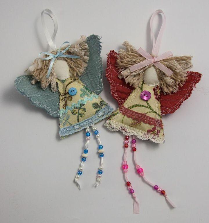 Primitive christmas craft ideas - Shabby Chic Guardian Angel Christmas Angel Decoration Christening O
