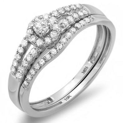 ... Bridal Ring Engagement Matching Wedding Band Set: Jewelry: Amazon
