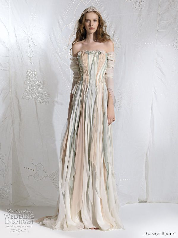 bohemian princess fairy wedding dress - Oceania bridal gown  Omygoshhh
