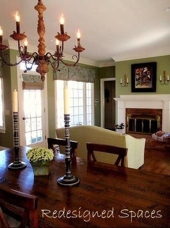 Awesome rustic colonial keeping room dining design for Keeping room ideas