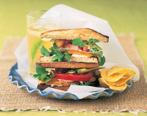 Turkey Cobb Salad Sandwiches. 433 calories per serving.