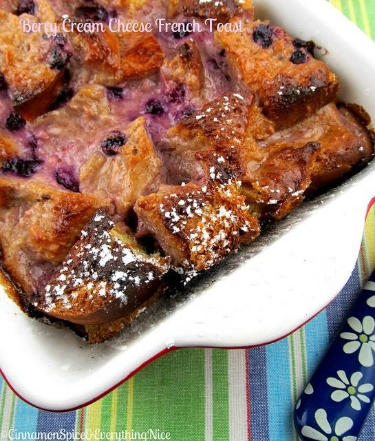 Baked berry cream cheese french toast | Evil Foods & Drinks | Pintere ...
