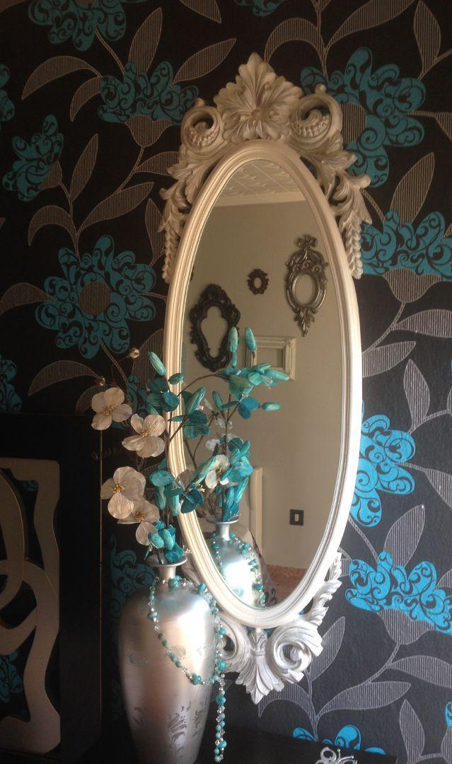 Como hacer marco de espejo for Espejos ovalados para decorar