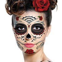 Sugar Skull Makeup Temporary Tattoo | Costumes Crush | Pinterest