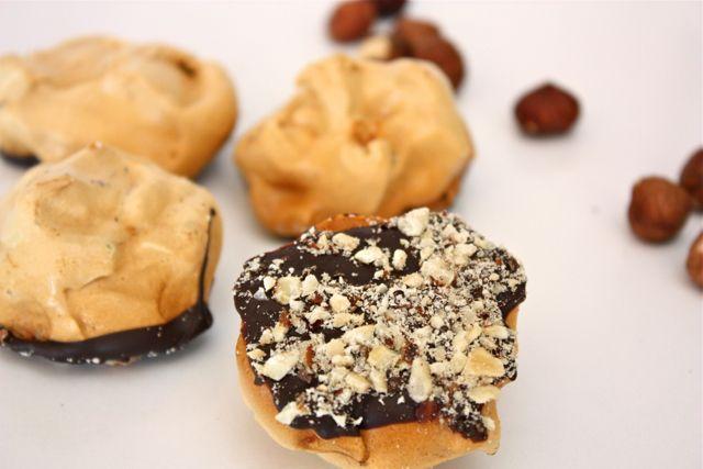 Dark Chocolate Hazelnut Meringue Cookies - Against All Grain