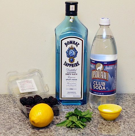 Blackberry Lemon Gin Fizz « We are not Martha