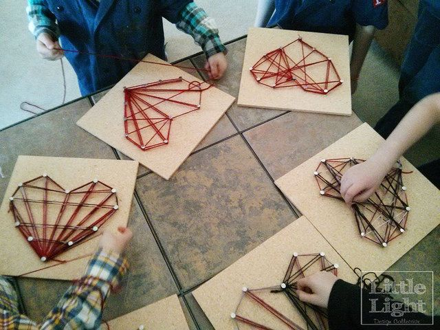 valentine day string art