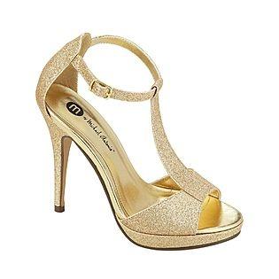 Michael Antonio- -Womens Dress Shoe Tipton Glitter - Gold