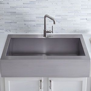 sink twist on the old farmhouse sink done in stainless steel with a ...
