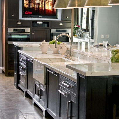 Kitchen Sink In Center Island Design Home Pinterest