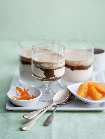 Orange semifreddo topped with espresso | Sweet Indulgences | Pinterest