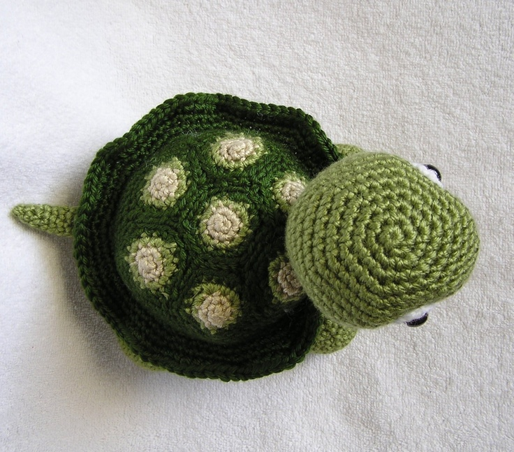 Crochet Patterns Turtle : BABY TURTLE PDF Crochet Pattern. $5.00, via Etsy.