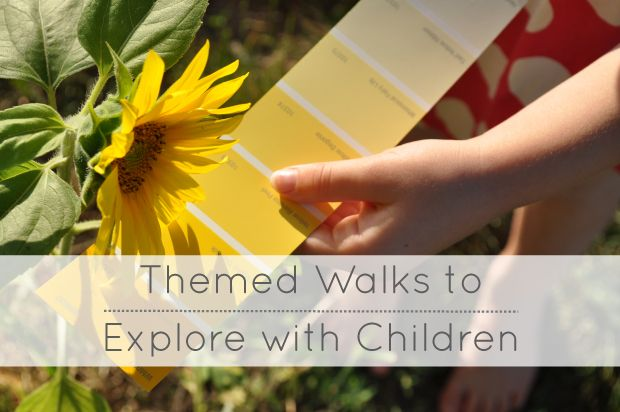 Lovely suggestions for themed walks that we can take with children...