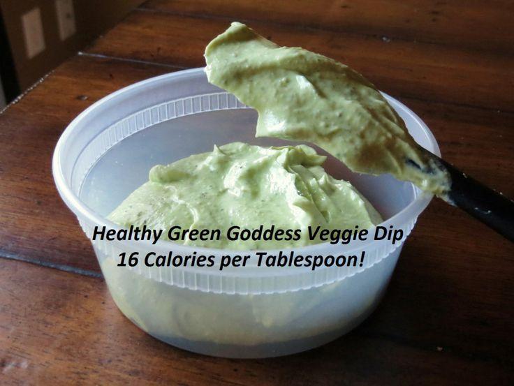 Healthy Green Goddess veggie dip | Food | Pinterest