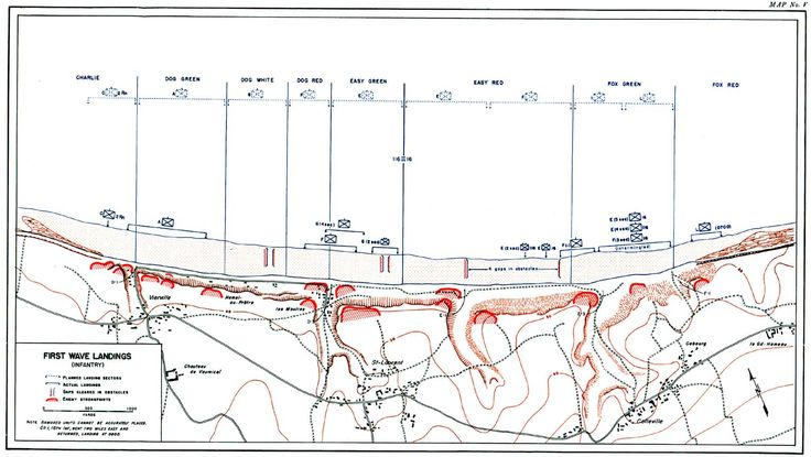 d day omaha beach map