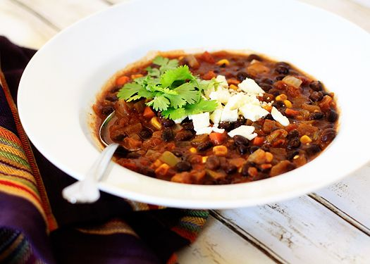 Black Bean and Sweet Potato Chili - another one to try