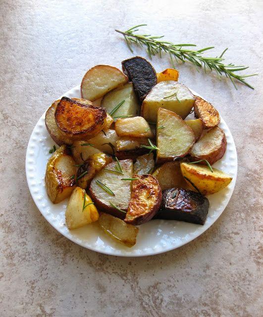 Rosemary Roasted Potatoes & Pears
