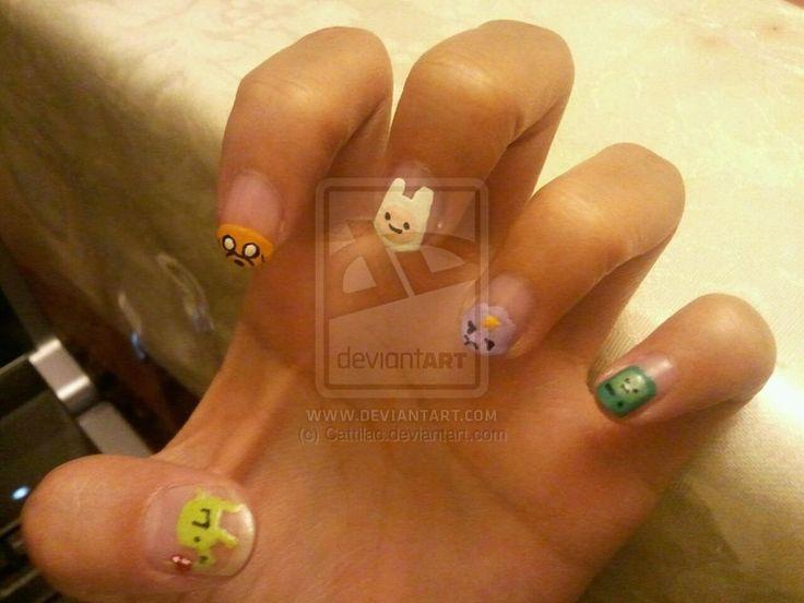 Adventure Time Nail Art   Nail ~~ Character   Pinterest