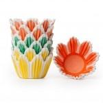 Assorted MINI Tulip Cupcake Liners, Tulip Shaped Baking Cups BULK (1000 Liners in 3 Colors!)