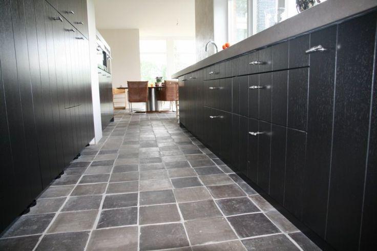 ... Woonkamer : Grijze vloertegels woonkamer antieke plavuizen vloer