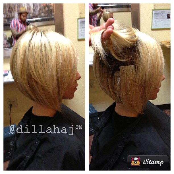 Hair Extensions with Bob Haircut