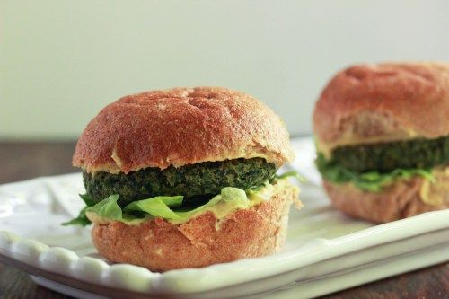 Spinach and Chick Pea Burgers | Recipes | Pinterest