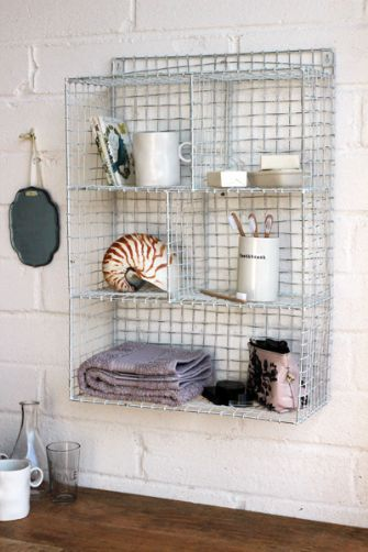 Wall Mounted Wire Storage Shelving Unit White