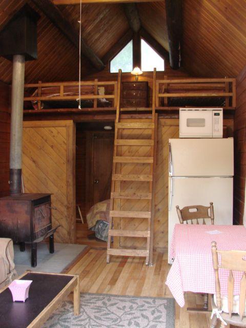 Cabin Interior Wood Stove Loft Interior Design Pinterest