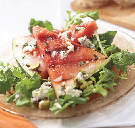 Arugula With Pomegranates, Blue Cheese And Pistachios Recipes ...