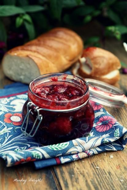 Strawberry, Rosemary and Balsamic Jam Recipe - Клубничное ...